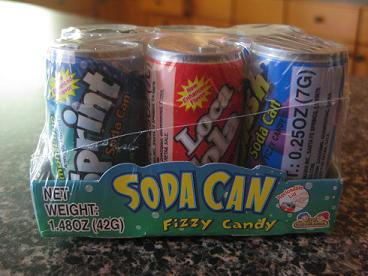 Soda Can Fizzy Candy 6-Pack