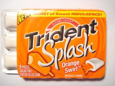 Trident Splash Orange Swirl
